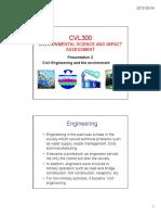 2015 CVL300 Presentation 3 - Civil Engineering and the Environment