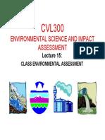 2015 Cvl300 Presentation 15 Class Environmenal Assessment
