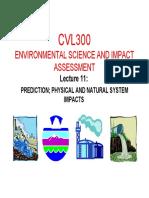 2015 Cvl300 Presentation 11 - Prediction; Physical and Natural System Impacts