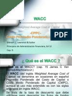 5 WACC o Costo Promedio Ponderado de Capital