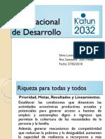 Plan Nacional Katun 2032 Riqueza Para Todos