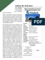 Fábrica Argentina de Aviones - Wikipedia, La Enciclopedia Libre