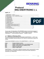 Notice MODBUS Enetronic