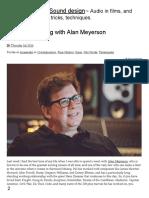 Alan Meyerson Mixing