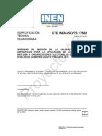 ISO-TS 17582 SGC en Organizaciones Electorales