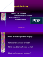 Lecture 1. Surgical Dentistry