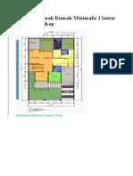 Koleksi Denah Rumah Minimalis 1 lantai 2018 Terlengkap.docx