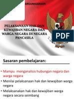 6.Pelaksanaan Hak Dan Kewajiban Negara Dan Warga Negara Di Negara Pancasila