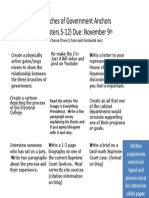 Branches of Government Anchors