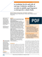 Serum Creatinine Levels and Risk of Incident Type 2 Diabetes Mellitus or Dysglycemia in Middle Aged Japanese Men