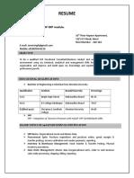 SAP SD Resume Format.doc