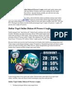 Daftar Togel Online Diskon 65 Persen 4 Angka