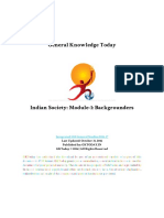 Indian Society Module 1 Basics
