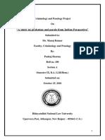 Criminology and Penology Project.pankaj Sharma. SEM IX.a.100.HNLU