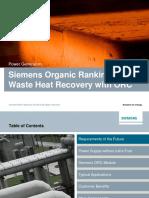 Presentation Siemens Organic Rankine Cycle