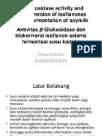 ?-Glucosidase activity and bioconversion of isoflavones.pptx