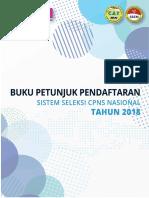 Buku Petunjuk Pendaftaran Sscn 2018
