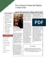 Morris County Historical Society Winter Newsletter 2010