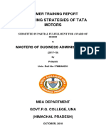 Prikshit Report of Marketing Strategies of TATAmotors