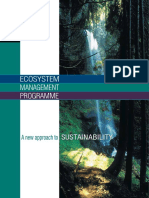 Ecosystem Mangement Programme a New Approach to Sustainability