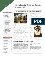 Morris County Historical Society Spring Newsletter 2009