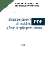 Situatia Persoanelor Varstnice Din Mediul Rural Si Forme de Sprijin Pentru Acestea