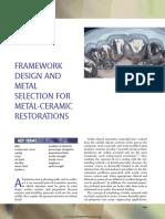 19 Framework Design and Metal Selection for Metal-ceramic Restorationsmic
