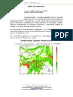 Aviso Especial Meteorologico 22-10-18