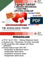 Sosialisasi Direktur UDD PMI Cianjur