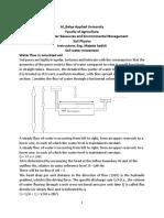 Soil Physics Soil Water Movment