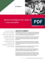 Market Intelligence Case Study Sales & Marketing