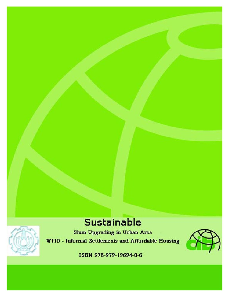 Sustainable Slum Upgrading In Urban Area W110