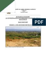 1. Honiara Urban Expansion Report