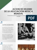 Declaracion de Helsinki de La Asociacion Medica Mundial