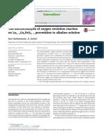 The electrocatalysis of oxygen evolution reaction on La1−xCaxFeO3−δ perovskites in alkaline solution