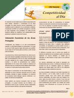 Competitividad Al Dia No. 053 - Valoracion Economica de Las Areas Protegidas