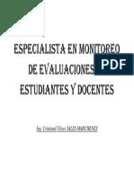 Especialista en Monitoreo de Evaluaciones de Estudiantes y Docentes
