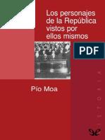 Los Personajes de La Republica - Pio Moa