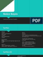 Naïve Bayes + Neural Network