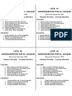 Lista 68 eleccion jvg