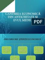 Tema 2 Precursorii Ştiinţei Economice
