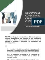 LIBERDADE DE CONSCIENCIA, CRENÇA E CULTO.pptx