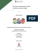 Swanepoel Teaching 2017