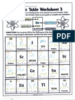 periodic table work sheet