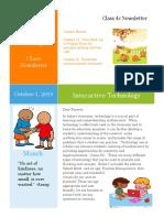 teaching math newsletter