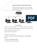 Cara Menghubungkan 4 Komputer Dengan HUB LAN