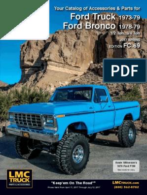 Bronco Interior Door Handle Set Driver /& Passenger Side 1973-79 Ford Truck