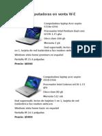 Computadoras Portatiles en Puebla
