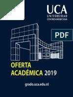 Oferta Academica UCA Grado 2019