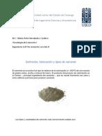 Cemento. Definicion, Tipos y Fabricacion